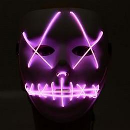 Неоновая маска для вечеринок с подсветкой UFT LED Mask 1 Violet