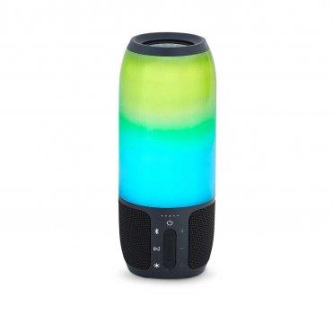 Портативна колонка bluetooth з кольоровою підсвіткою MP3 плеєр Спартак Q690 Pulsation 3 Black 006706