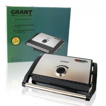 Гриль багатофункціональний c антипригарним покриттям Grant GT 783 1200 Вт (R189483)