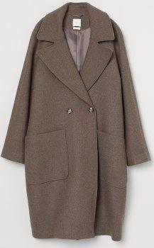 Пальто H&M 7867430wt Коричневий меланж