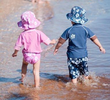 Пляжні шорти UPF 50+ Banz 120 см сині з мокко