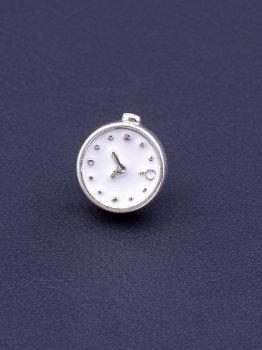 Шарм Часики с белой эмалью Pandora Style Эмаль Серебро(925) 082906