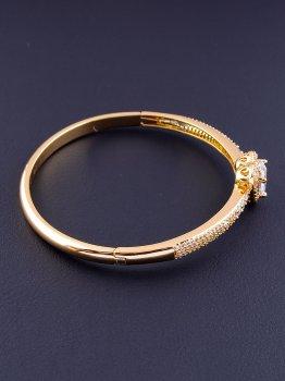 Браслет жетский Сердце Xuping Фианит 17 см. (позолота 18к) 076484