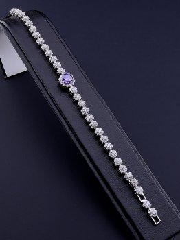 Браслет Xuping цепочка бижутерия под серебро 19 см. 047286