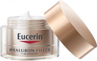Антивозрастной ночной крем для лица Eucerin Hyaluron-Filler + Elasticity 50 мл (4005800160264)