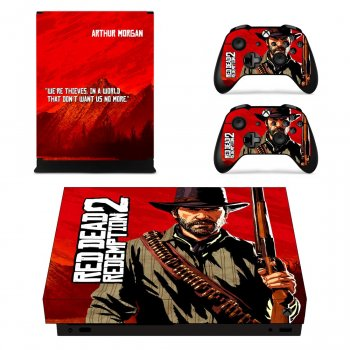 Вінілові наклейки на Xbox One X і Gamepad Read Dead Redemption 2 Custom Skin Playsole Games (PG304)