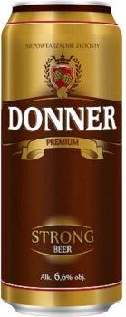 Упаковка пива Donner Strong светлое фильтрованное 6.6% 0.5 л х 24 шт (5900535000405G)
