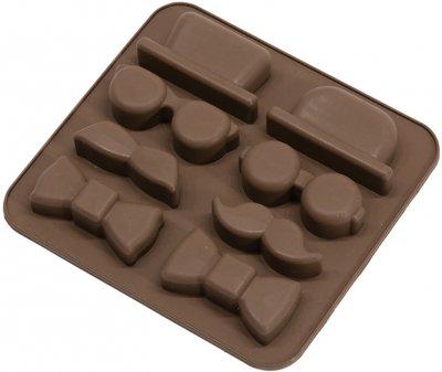 Силиконовая форма для шоколада MYS Детектив Коричневая (MYS-41175)