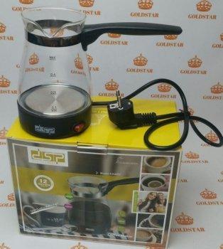 Электротурка DSP KA-3037 турка электрическая, кофеварка 700 мл Черная ручка