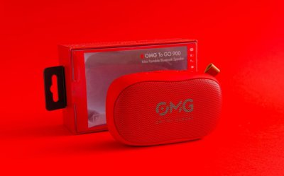 Портативна музична міні колонка OMG To GO 900 Mini Portable Bluetooth Speaker Red (omg308) Червоний