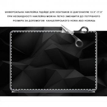 """Универсальная наклейка для ноутбука, 13.3""""-17.3"""" 400x260 мм Графит, абстракция Матовая"""