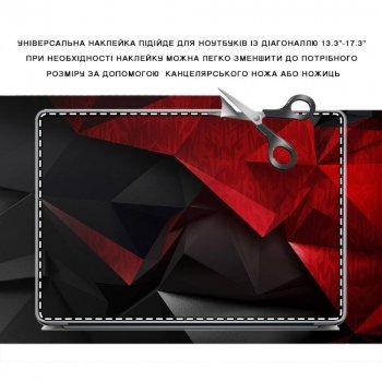 """Универсальная наклейка для ноутбука, 13.3""""-17.3"""" 400x260 мм Черно-красная абстракция 3D Матовая"""