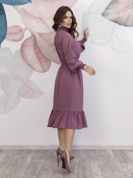 Платье ISSA PLUS 12149 Темно-сиреневое