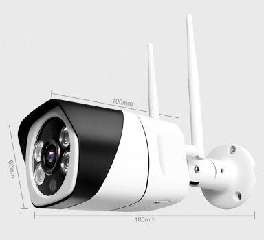 Уличная беспроводная наружная IP камера 2MP 1080p FullHD WIFI со звуком, ночным режимом и датчиком движения. App Ycc365 Plus.