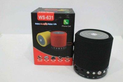 Портативная MP3 Bluetooth колонка WSTER SPS WS-631, радио черная