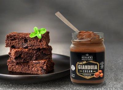 Паста орехово-шоколадная Sisinni Премиальная Джандуйя (без сахара) 380 г (5202474070014)
