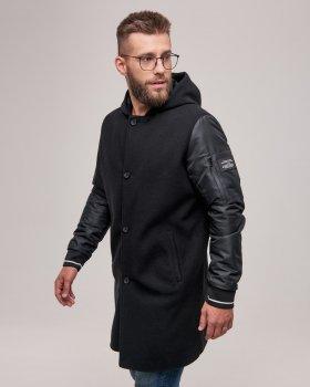 Чоловіче пальто DP-01 Riccardo чорний