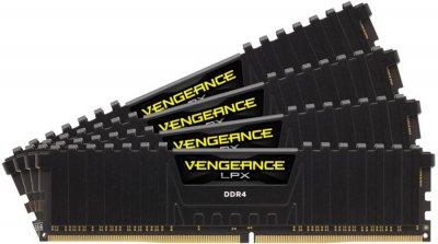 Модуль пам'яті DDR4 128GB (4x32) Corsair Vengeance LPX Black 2400 MHz (CMK128GX4M4A2400C16)