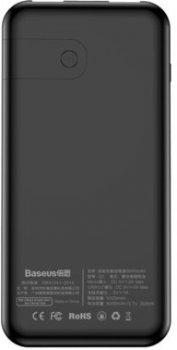 УМБ Baseus Power Bank 8000 mAh Full Screen Bracket Series Wireless Charging Black (PPALL-EX01)