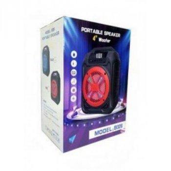 Bluetooth портативна колонка валізу B326 (BL,USB,SD,FM, AUX),мережа/акк, світломузика, 29см*20см*14см
