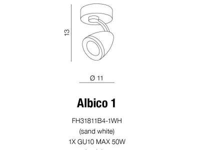 Спот Azzardo AZ1240 ALBICO (FH31811B4-1WH)