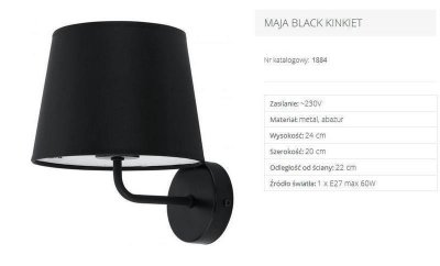 Бра TK Lighting 1884 MAJA