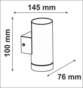 Настінний світильник Polux 304087 NIVERO LED