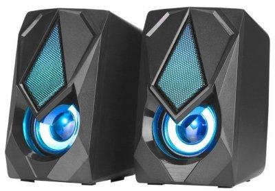 Комп'ютерні колонки XTRIKE ME RGB Backlight SK-402 з підсвічуванням, чорні (ZE35011826)