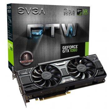 EVGA PCI-Ex GeForce GTX 1060 SSC Gaming ACX 3.0 3GB GDDR5 (192bit) (1620 /8008) (DVI, HDMI, 3 x DisplayPort) (03G-P4-6168-KR)