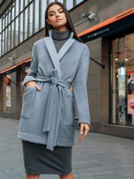 Пальто Gepur 33474 Голубое