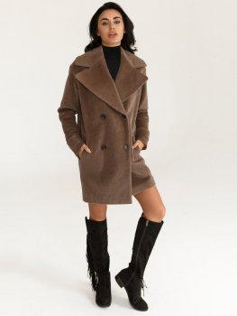 Пальто Gepur 33157 Коричневое