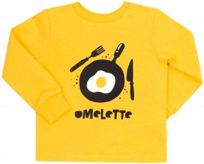 Пижама (футболка с длинным рукавом + штаны) Бемби PG53 511 Желтый/Белый