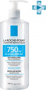 Міцелярна вода La Roche-Posay Physiological Cleansers для чутливої шкіри обличчя 750 мл (3337872419621)