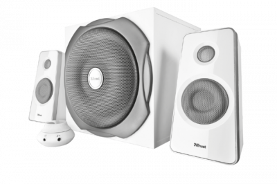 Акустическая система Trust Tytan 2.1 Subwoofer Speaker Set white(18789)