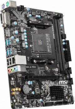 Материнська плата AM4 (A320) MSI A320M-A PRO, A320, 2xDDR4, Int.Video(CPU), 4xSATA3, 1xPCI-E 16x 3.0, 1xPCI-
