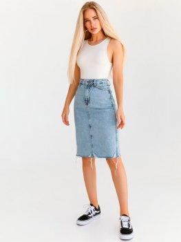 Юбка джинсовая Gepur 35550 W Голубая