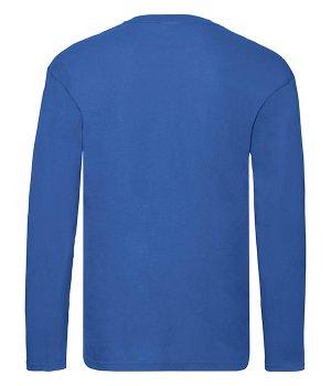 Футболка з довгим рукавом Fruit of the Loom Original long sleeve T Яскраво-синій