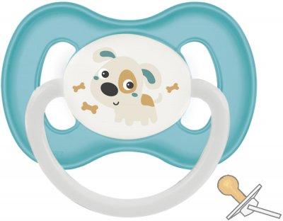 Пустушка латексна Canpol Babies Bunny & Company кругла 0-6 міс. Бірюзова (23/277_tur) (5901691811881)