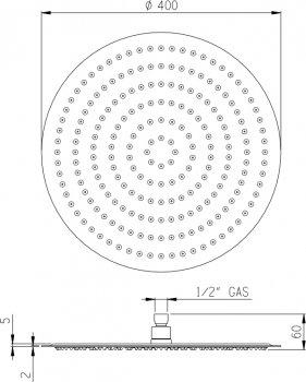 Верхний душ I.S.A. IDROSANITARIA Globo 59876