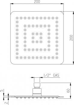 Верхний душ I.S.A. IDROSANITARIA Globo-Q 59888