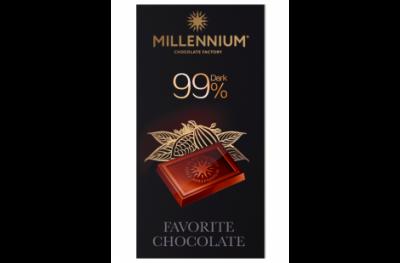 Шоколад Millennium Favorite чёрный 99% 100 г * 5 шт