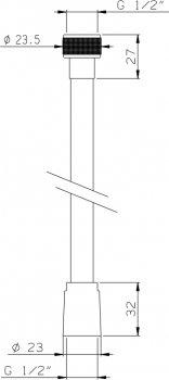 Шланг душевой I.S.A. IDROSANITARIA Metalflex 62300 200 см