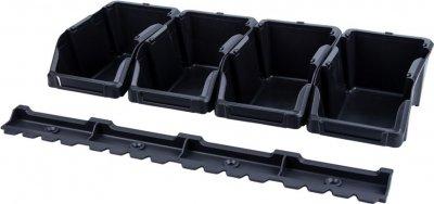 Набор лотков для метизов Sigma 8 шт с креплениями Черный (7418371)