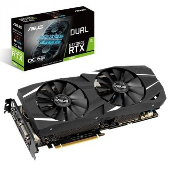 Відеокарта ASUS RTX 2060 6Gb Dual OC (FR) (DUAL-RTX2060-O6G), factory refurbished