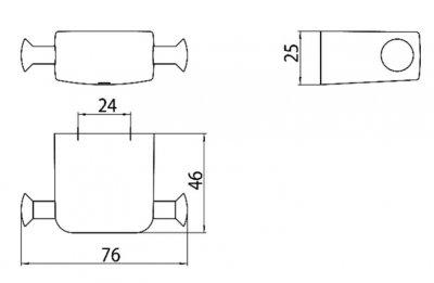 Крючок двойной EMCO Trend 0278 001 00