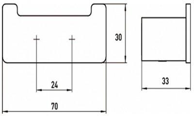 Крючок двойной EMCO Loft Black 0575 133 02