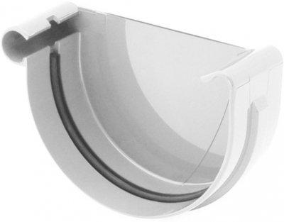 Заглушка жолоба BRYZA ліва 75 мм Білий (60-091)