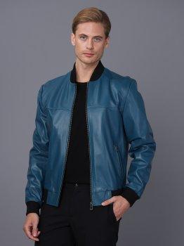 Мужская кожаная куртка BASICS & MORE Синий (BA7018528)