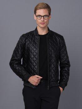 Мужская кожаная куртка BASICS & MORE Черный (BA9175082)