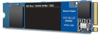 Western Digital Blue SN550 NVMe SSD 500GB M. 2 2280 PCIe 3.0 x4 3D NAND (TLC) (WDS500G2B0C)